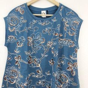 Anthropologie Tops - Anthro | Akemi + Kin Boxy Embroidered Top